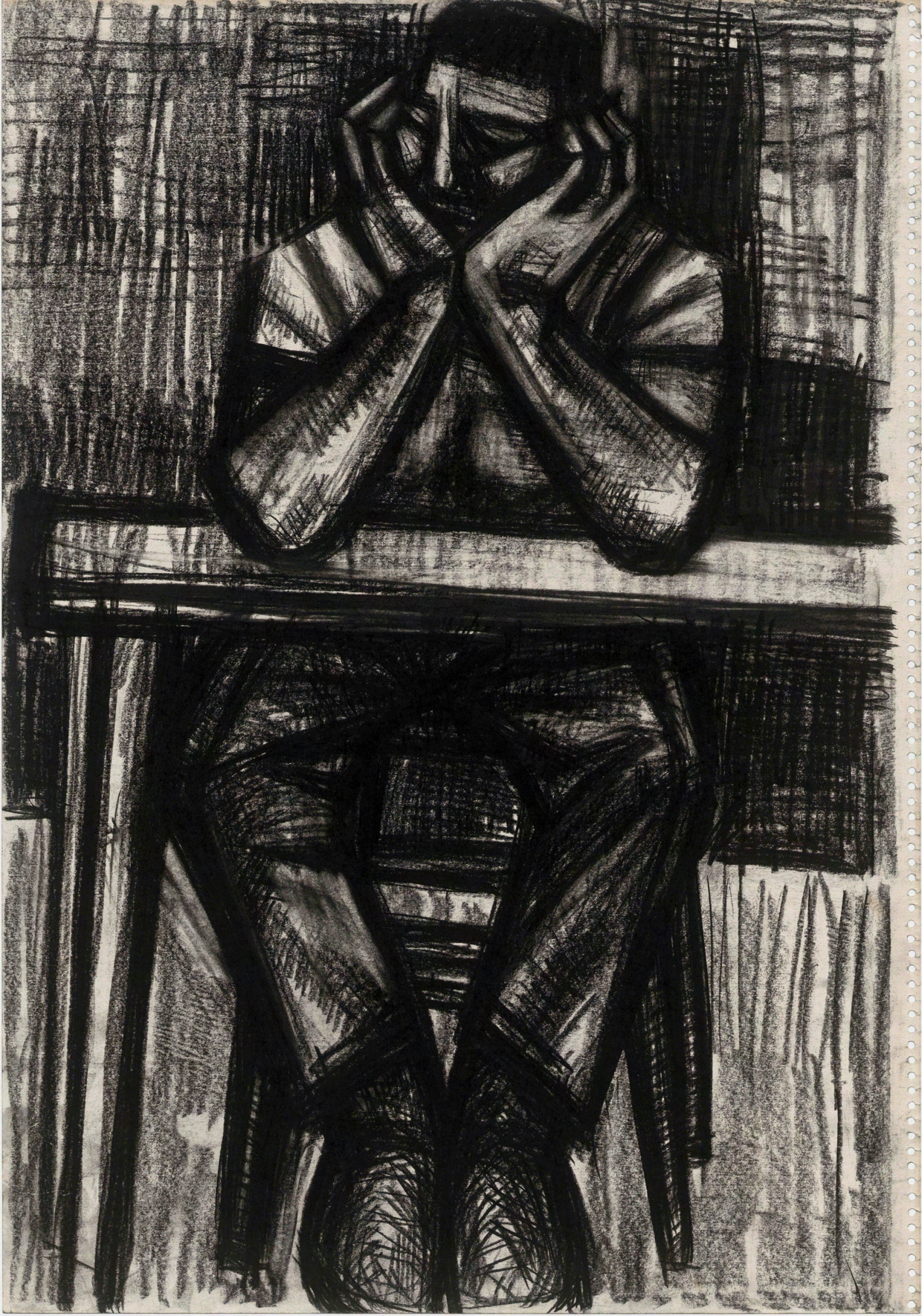 無題(両肘をつく男)の画像