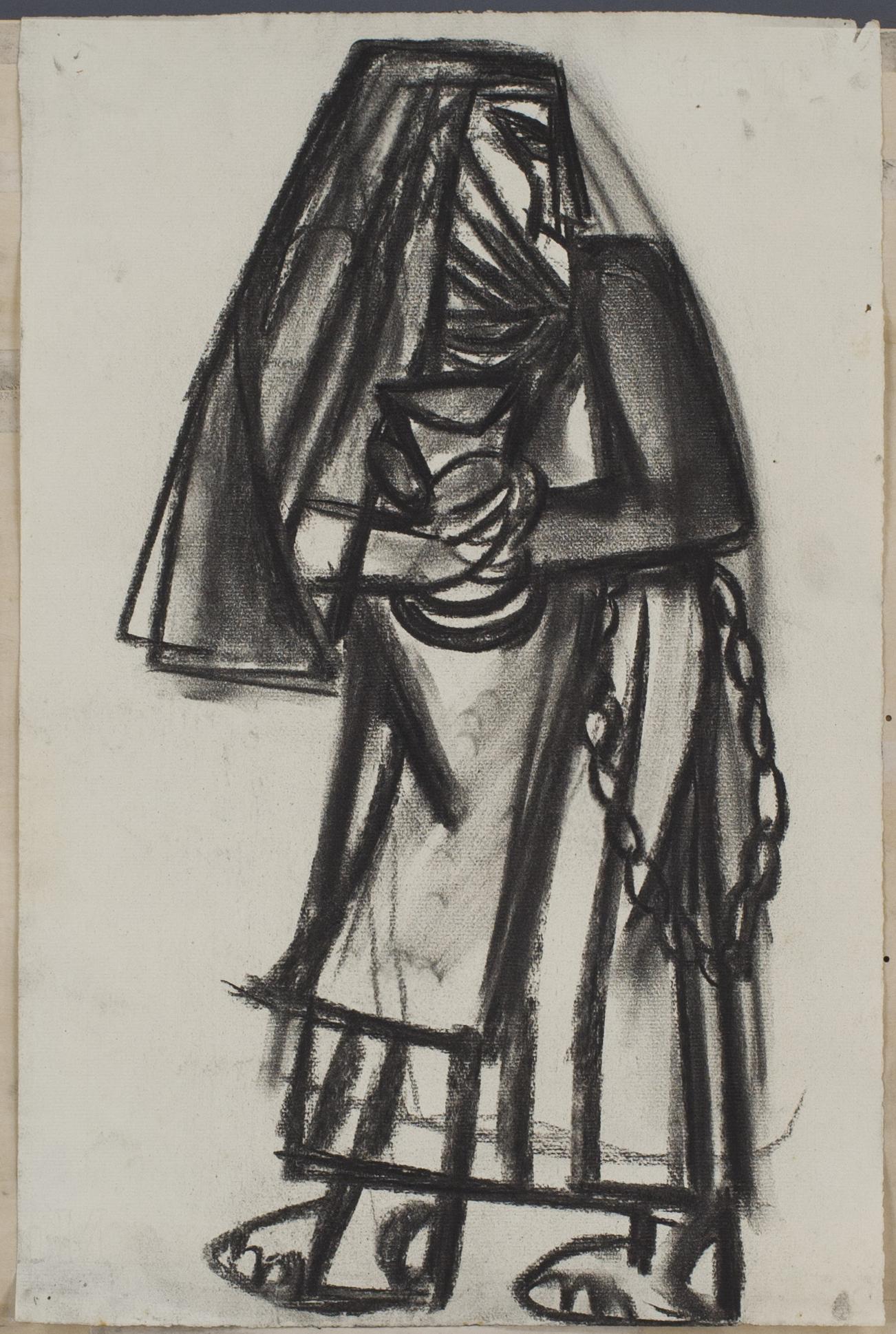 無題(横を向く修道女)の画像